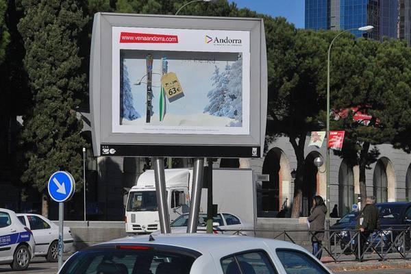 Turismo de andorra y la agencia posterscope traen la nieve for Agencia turismo madrid