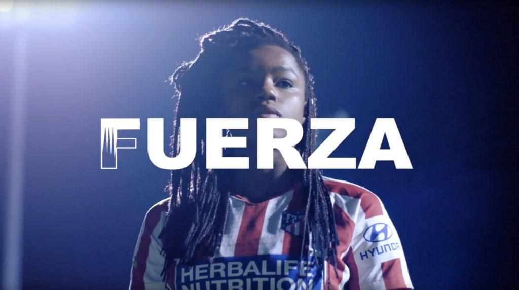 F de fútbol femenino