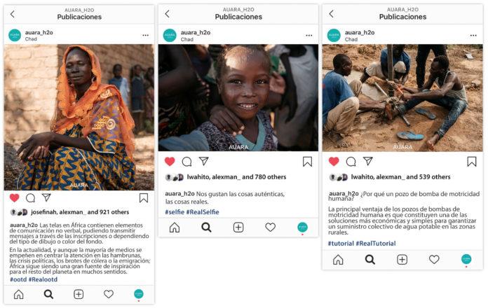 Auara sensibiliza a traves de Instagram